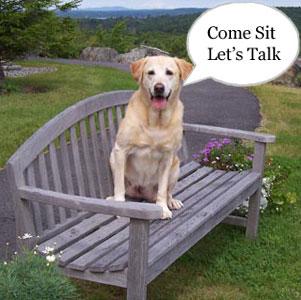 Samantha saying Come sit let's talk