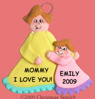 Mom and Daughter Ornament
