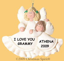 Angel Mom and Me Ornament