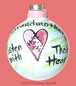 Grandmothers listen with their heart Ornament