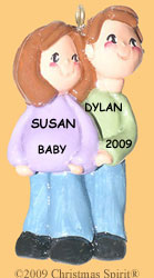 Expecting Couple Ornament
