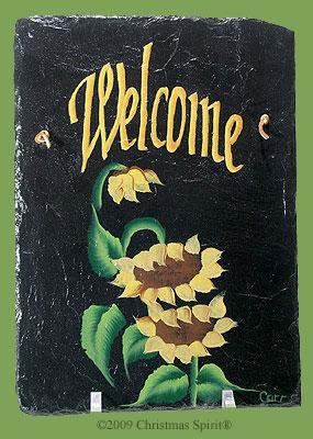 Handpainted sunflower slate
