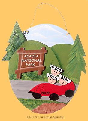 National Park Car Family of 3 Plaque