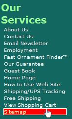 Navigation bar on our Website
